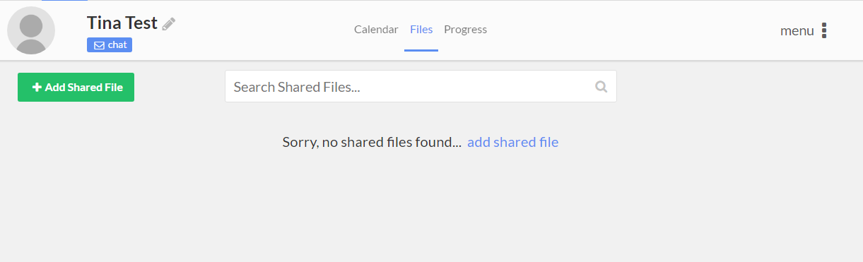 Share Files Tab
